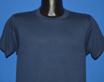 80s Screen Stars Navy Blue Blank t-shirt Small