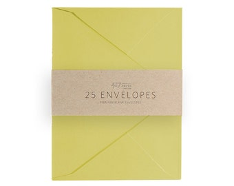 Envelopes - A2 Chartreuse Green