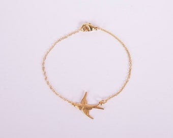 Fine Anklet Rosegold Birdy Chain Rose Golden Plated Bird