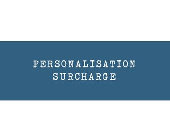 Personalisation surcharge