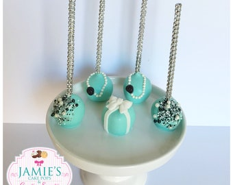 Jewerly Glam Teal Blue Cake Pops