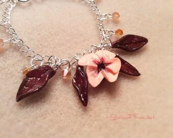 BLOOMING CHERRY TREE cold porcelain beaded bracelet