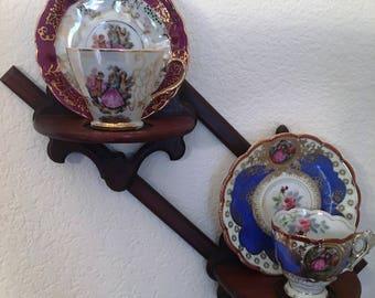 Scroll Wood Teacup shelf
