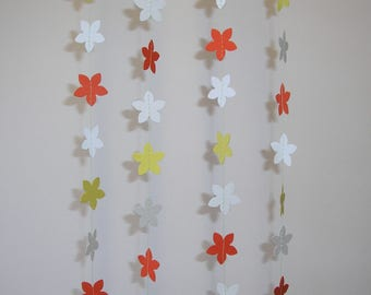 Hand made Thick Card Stock Paper Party Wedding Christmas Decoration Streamer Garland Flowers
