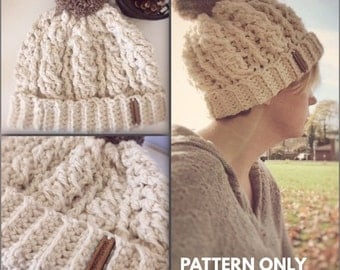 PATTERN for The Birdetta Cable Hat - Crochet Pattern - Cable Pattern - Birdetta Pattern - crochet hat pattern