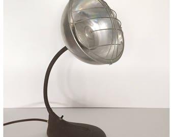 Vintage Heat Lamp, Steampunk Heat Lamp, Industrial Heater, Electrex Heat Lamp, Industrial Office Decor, Goose Neck Heat Lamp