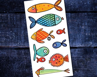 Temporary Tattoos - Fish