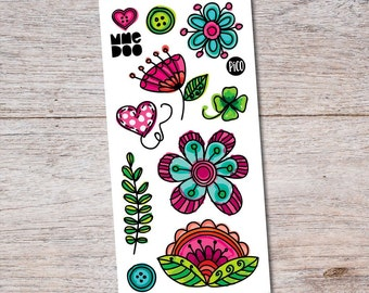 Temporary Tattoos - Celebrate Flowers – by MME DOO