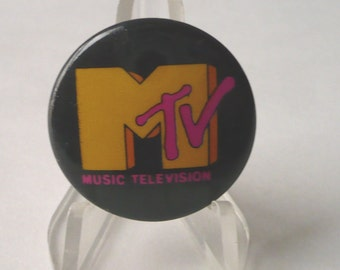 Vintage MTV Music Television Pin Button