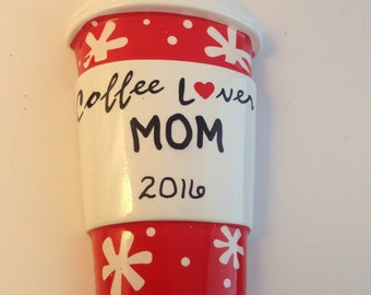 Coffee Lover Personalized Christmas Ornaments