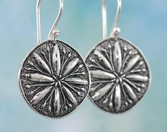 Sterling Silver Earrings – Flower Earrings – Sterling Silver Flower Earrings – Organic Jewelry – Sterling Silver Jewelry – Sterling Earrings