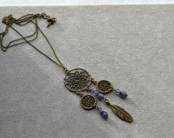 Saltire Dreamcatcher, Swarovski Crystal beads, pearls of Bohemia Crystal