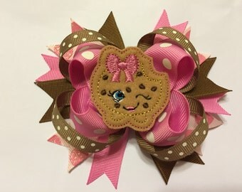 Loopy Hairbow with Cookie Feltie