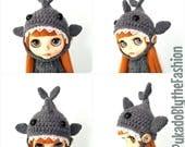 Blythe Hat - Kawaii Shark -OOAK Handmade