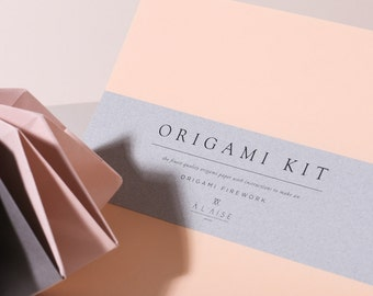 Origami Firework Kit - Apricot