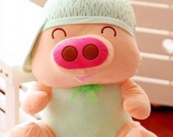 Cute Pig Plush Etsy