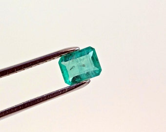7 X 5mm Emerald Cut Natural Colombian Emerald Loose Gemstone