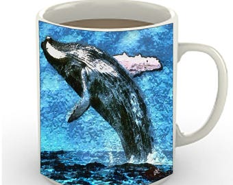 Humpback Whale - Ceramic Coffee/Latte Mugs by DoggyLips  - in 2 sizes