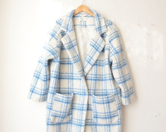 SALE // GANNI checked oversized taylor structured wool coat // M