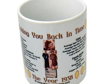 1938 Taking You Back In Time Coffee Mug