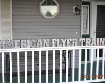 American Flyer Trains Galvanized Sign Letters Vintage Look Galvanized letters