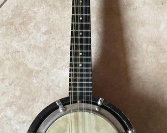 Antique Banjo Ukulele Mandolin, Banjo Uke, Folk, Bluegrass, 8 string