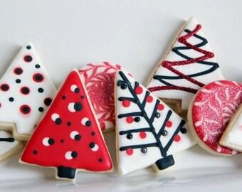 One dozen contemporary Christmas cookies