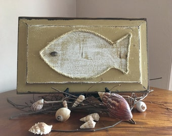 Rustic Fish Decor//Wooden Fish//Beach Decor//Bathroom Decor//Nautical Decor//Handmade Fish Art//Gifts for Him//Lakehouse Decor