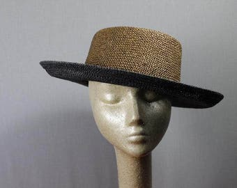 Vintage Two Toned Panama Hat
