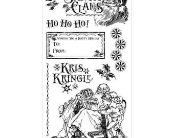 Graphic 45 ST NICHOLAS 3 Cling Stamps IC0373S cc55