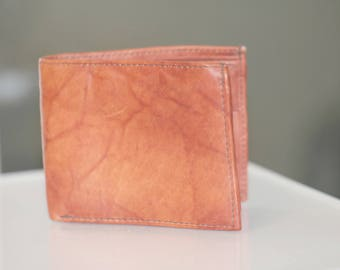 Vintage Leather Wallet, Brown Leather Wallet, Women's Slim Wallet, Men's Wallet, New Old Stock