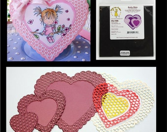 Heart to Heart thin metal die cutting Set by Cheery Lynn Designs dies for scrapbooking and cardmaking for wedding,valentine's & more 5pc
