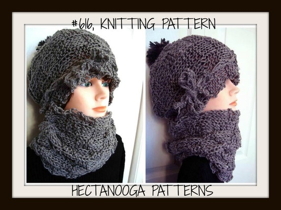 Knitting Pattern For Age : Knitting Pattern Hat BASKETWEAVE HAT and COWL Age 5