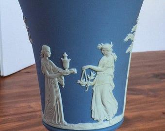 Vintage (1908-1969) Blue Wedgwood Vase - Marked