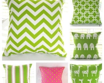 CLEARANCE Pillow Cover, Pillow, Decorative Throw Pillows, Decorative Pillow, Throw Pillow, Green Pillow, Baby, Nursery, Various Sizes Availa