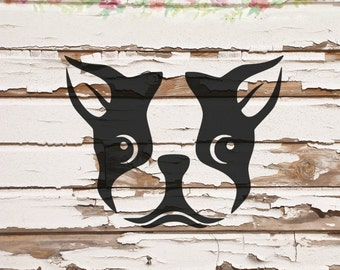 Boston Terrier, dog, puppy SVG, PNG, DXF files, instant download