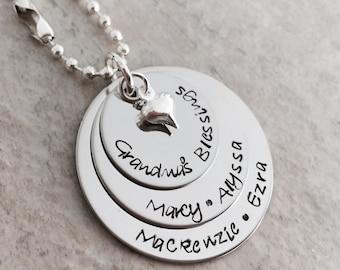 Grandmas blessings necklace nanny nana mema personalized necklace for grandma necklace grandchildren names grandkids monogrammed jewelry