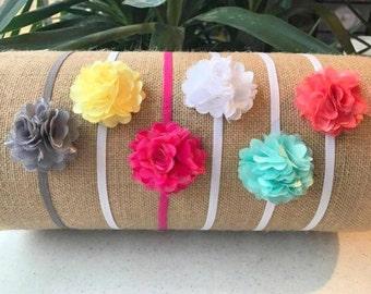 Buy 1 get 2 FREE Baby Girl Headband, Mini Flower, Baby Headband,  Newborn Headband, Baby Bows, Pink Headband, Toddler Headband, Chiffon