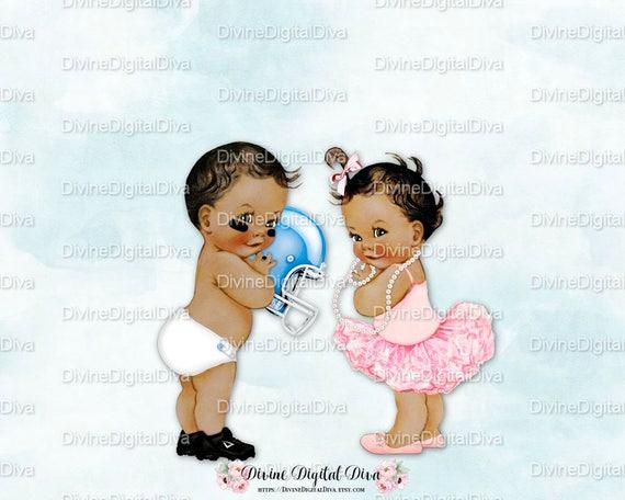 Touchdowns or Tutus Vintage Baby Football & Ballerina Medium