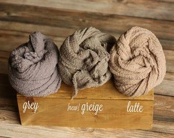 Mid-Range Neutrals - Premium Natural Newborn Wrap - Large Cheesecloth Wrap - Baby Wrap - Photo Prop