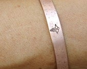 Medical Alert Custom Bracelet Cuff, Hand Stamped Bracelet, Medical Alert Personalized Jewelry