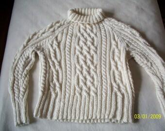 Alpaca Cabled Sweater