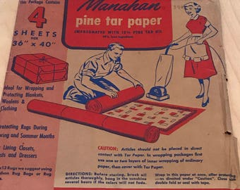 Vintage package of Pine tar paper made in USA.