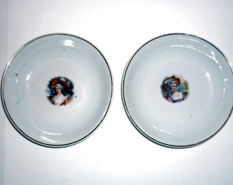 Set of two porcelain bowls of Bohemia porcelain