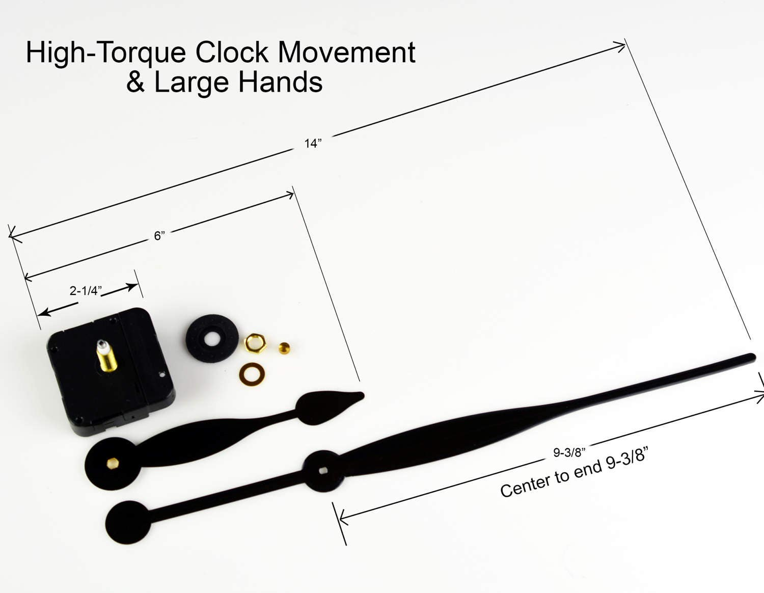Clock movement kit high torque for big clocks make your own 1288 amipublicfo Image collections