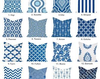 One Premier Prints  Cobalt blue  Pillow Covers, cushion, decorative pillow, throw pillow, Cobalt Pillow, Blue Pillow