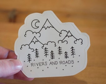 Rivers and Roads: Laptop Sticker