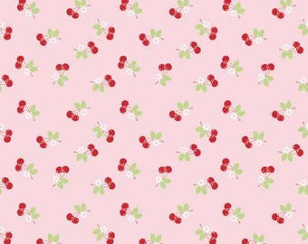 Riley Blake, Sew Cherry 2 Pink # C5804R-PINK by Lori Holt, Her New Collection