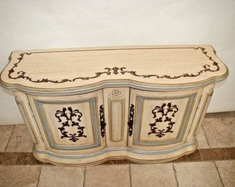 Gorgeous Drexel Cabernet Sideboard Server Buffet hand painted 2 cabinet Insured safe Nation Wide Shipping Available