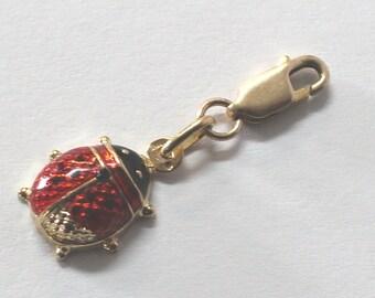 Lady Bug Charm / Pendant 14k yellow gold - sku 3193b2